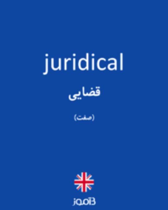 تصویر juridical - دیکشنری انگلیسی بیاموز