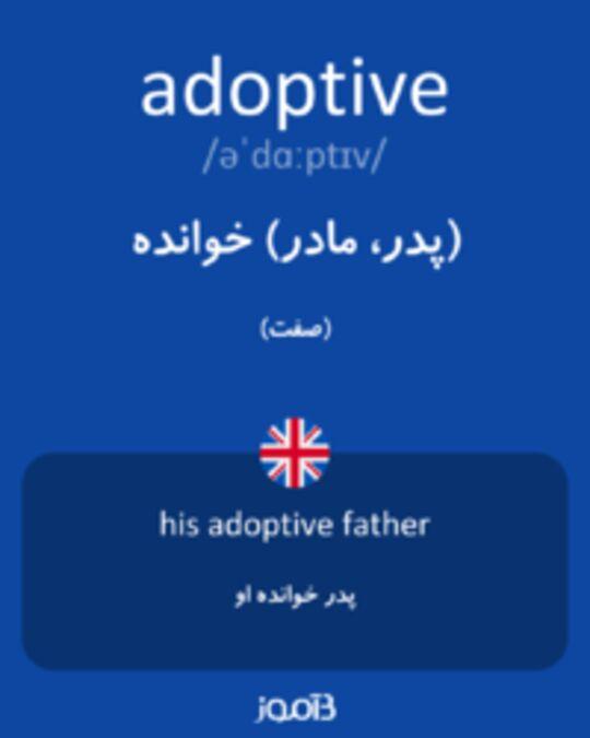 تصویر adoptive - دیکشنری انگلیسی بیاموز