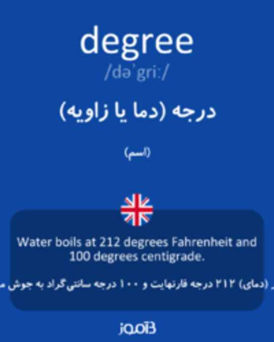 تصویر degree - دیکشنری انگلیسی بیاموز