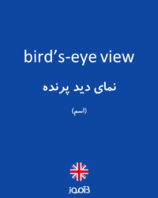 تصویر bird's-eye view - دیکشنری انگلیسی بیاموز