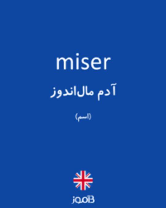 تصویر miser - دیکشنری انگلیسی بیاموز