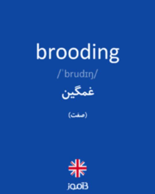 تصویر brooding - دیکشنری انگلیسی بیاموز