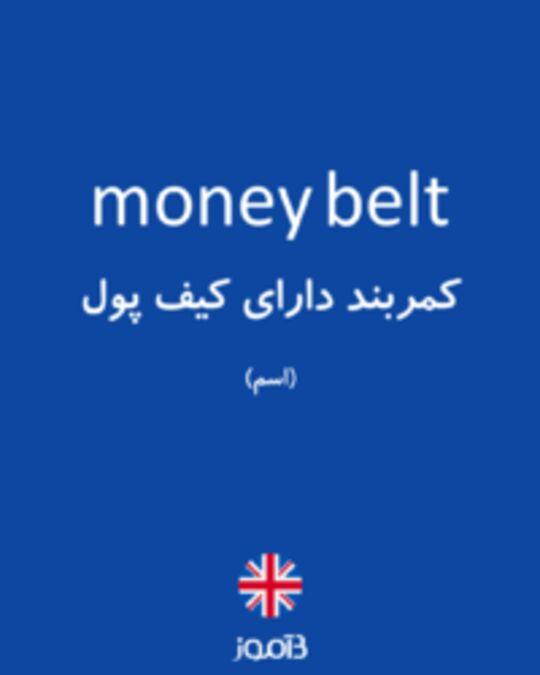 تصویر money belt - دیکشنری انگلیسی بیاموز