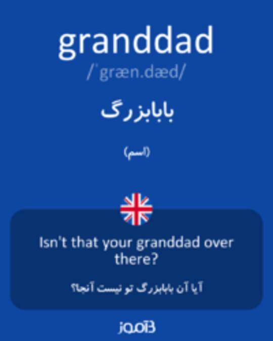 تصویر granddad - دیکشنری انگلیسی بیاموز