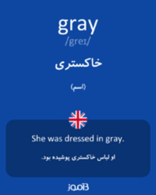 تصویر gray - دیکشنری انگلیسی بیاموز