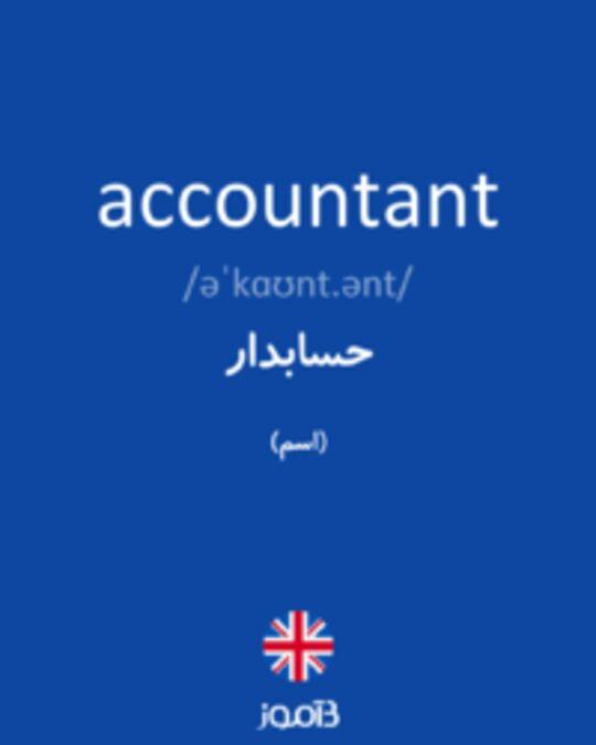 تصویر accountant - دیکشنری انگلیسی بیاموز