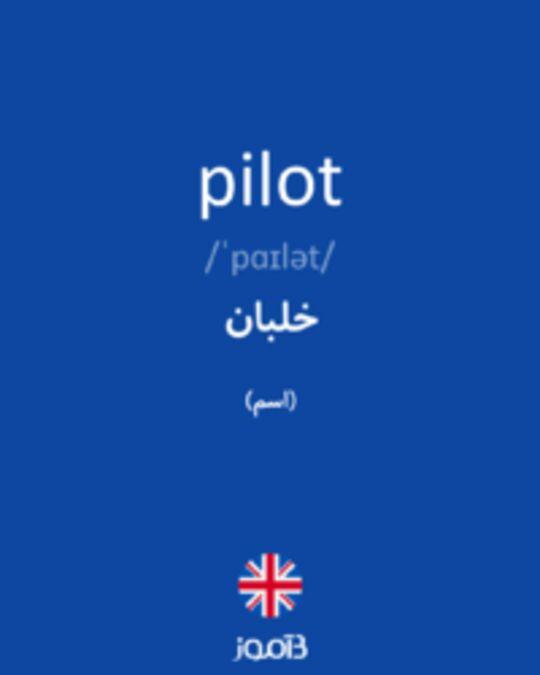 تصویر pilot - دیکشنری انگلیسی بیاموز