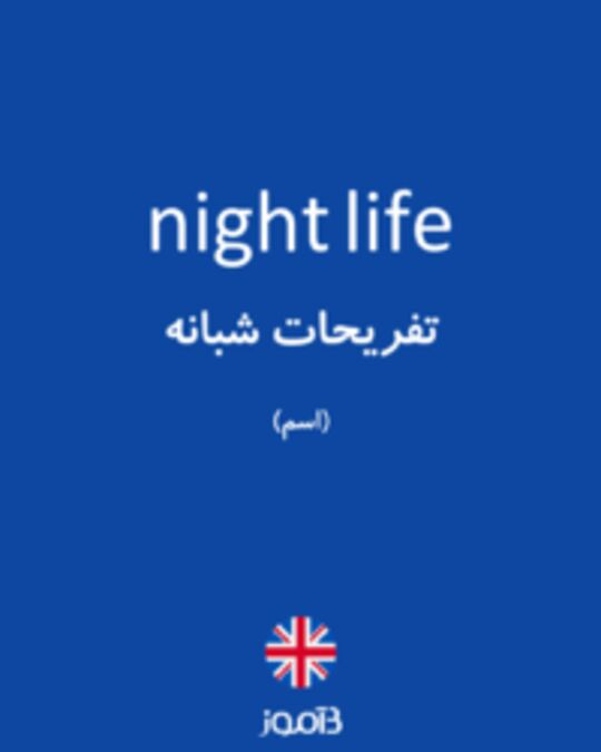 تصویر night life - دیکشنری انگلیسی بیاموز