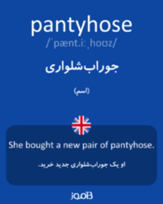تصویر pantyhose - دیکشنری انگلیسی بیاموز