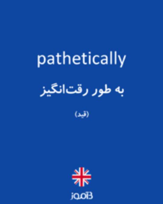 تصویر pathetically - دیکشنری انگلیسی بیاموز