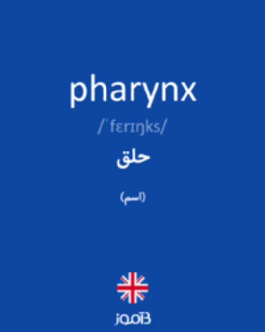 تصویر pharynx - دیکشنری انگلیسی بیاموز