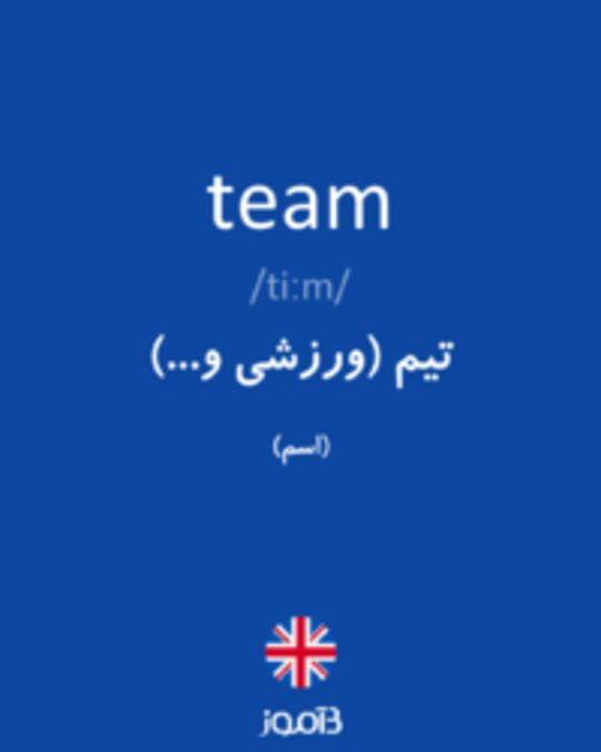تصویر team - دیکشنری انگلیسی بیاموز