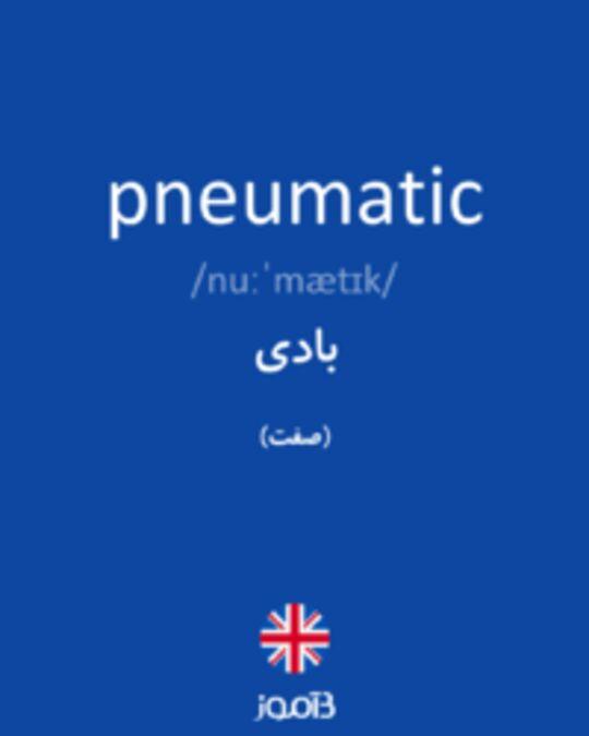 تصویر pneumatic - دیکشنری انگلیسی بیاموز