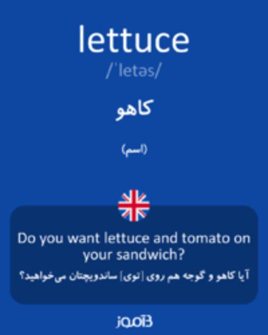 تصویر lettuce - دیکشنری انگلیسی بیاموز