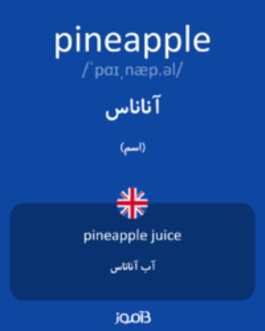 تصویر pineapple - دیکشنری انگلیسی بیاموز