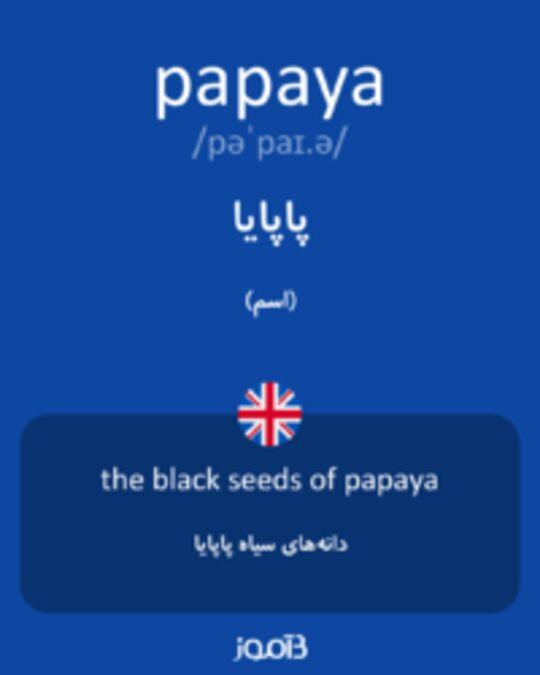 تصویر papaya - دیکشنری انگلیسی بیاموز