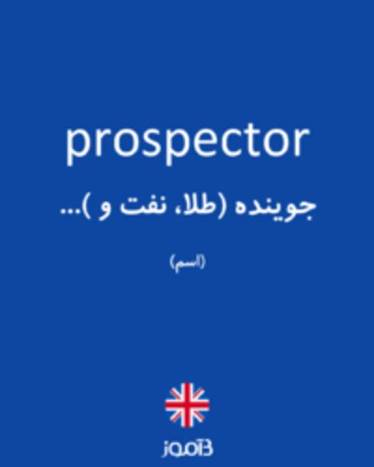 تصویر prospector - دیکشنری انگلیسی بیاموز