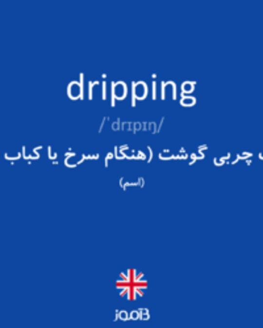 تصویر dripping - دیکشنری انگلیسی بیاموز