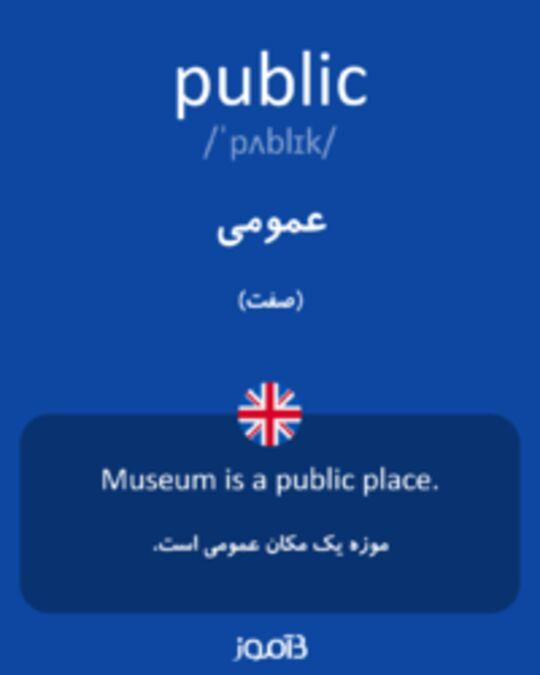 تصویر public - دیکشنری انگلیسی بیاموز