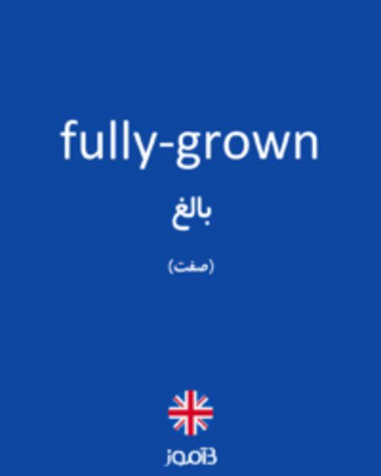 تصویر fully-grown - دیکشنری انگلیسی بیاموز