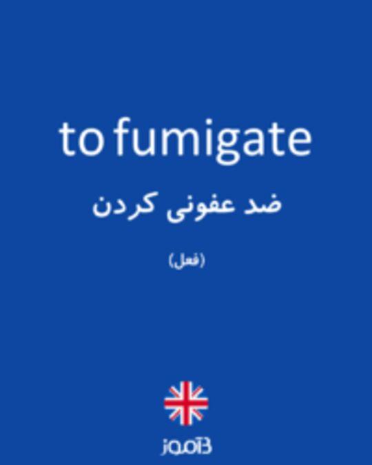 تصویر to fumigate - دیکشنری انگلیسی بیاموز