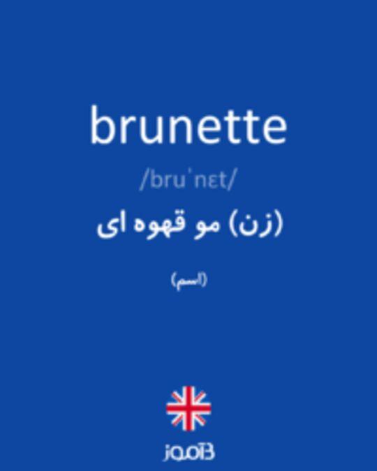تصویر brunette - دیکشنری انگلیسی بیاموز