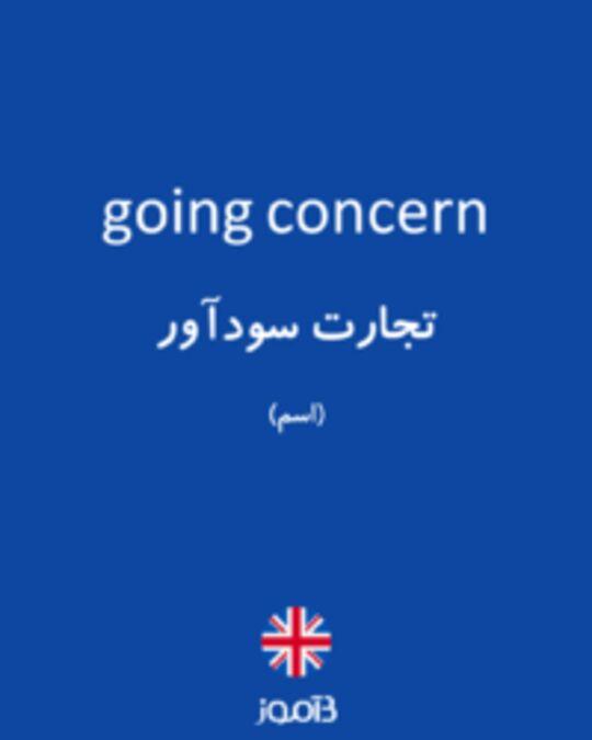 تصویر going concern - دیکشنری انگلیسی بیاموز