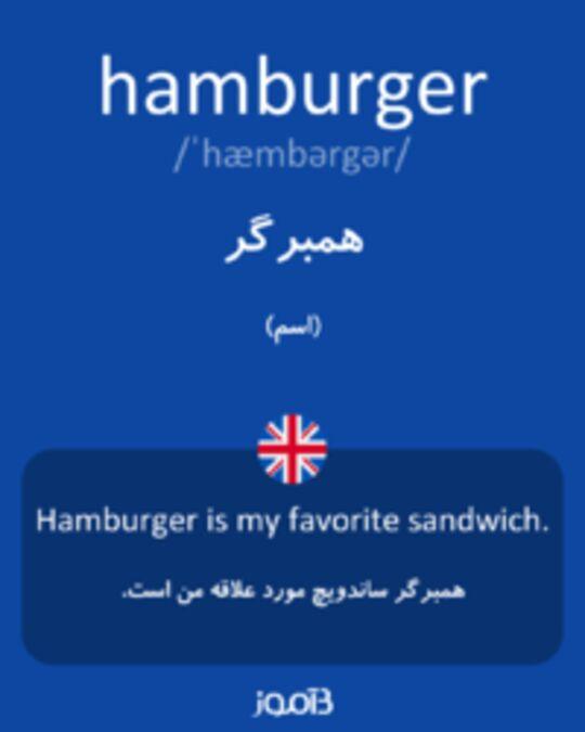 تصویر hamburger - دیکشنری انگلیسی بیاموز
