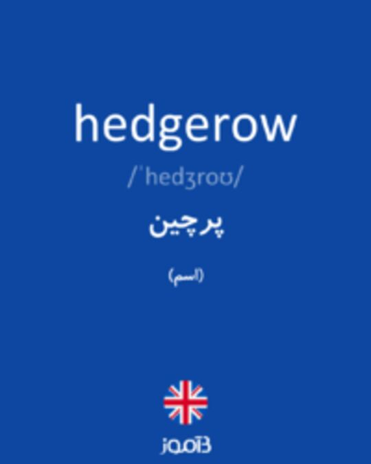 تصویر hedgerow - دیکشنری انگلیسی بیاموز