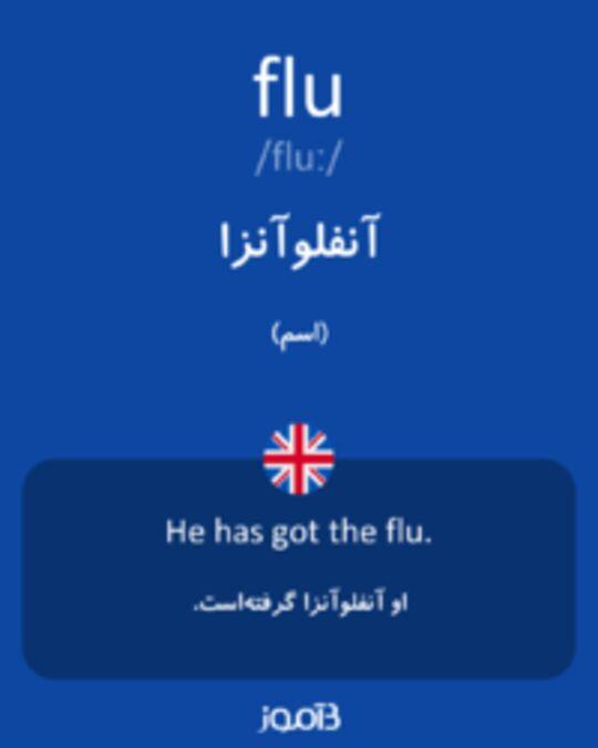 تصویر flu - دیکشنری انگلیسی بیاموز