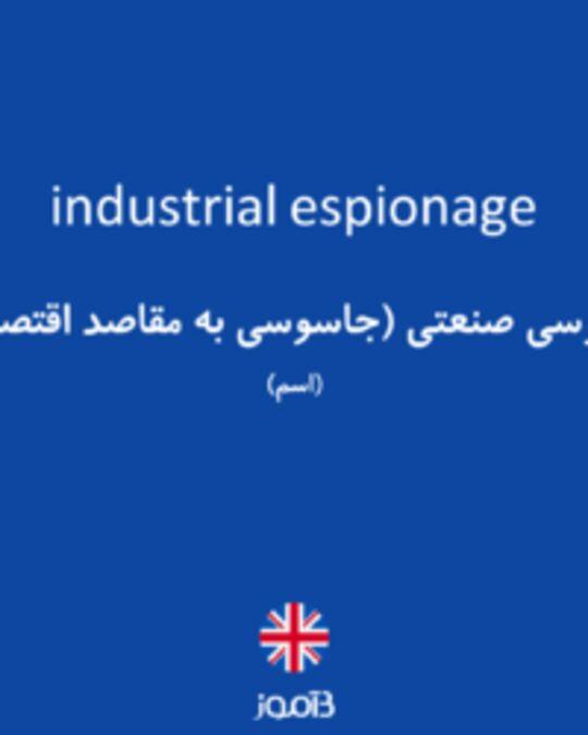 تصویر industrial espionage - دیکشنری انگلیسی بیاموز