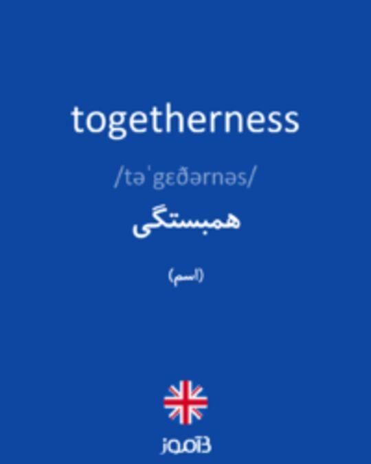 تصویر togetherness - دیکشنری انگلیسی بیاموز