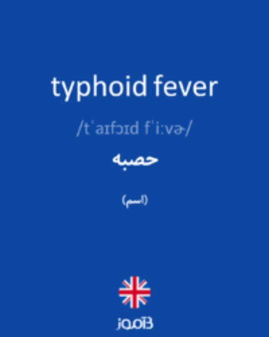 تصویر typhoid fever - دیکشنری انگلیسی بیاموز