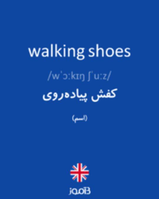 تصویر walking shoes - دیکشنری انگلیسی بیاموز