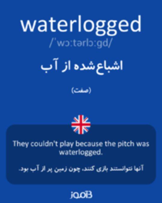 تصویر waterlogged - دیکشنری انگلیسی بیاموز