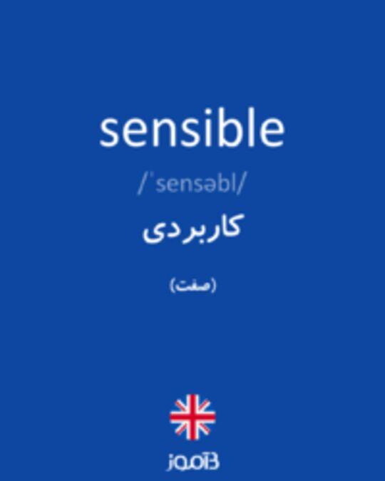 تصویر sensible - دیکشنری انگلیسی بیاموز