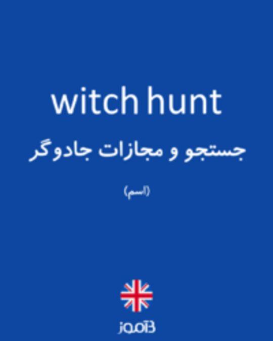 تصویر witch hunt - دیکشنری انگلیسی بیاموز