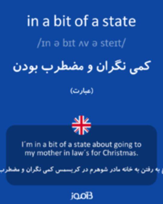 تصویر in a bit of a state - دیکشنری انگلیسی بیاموز