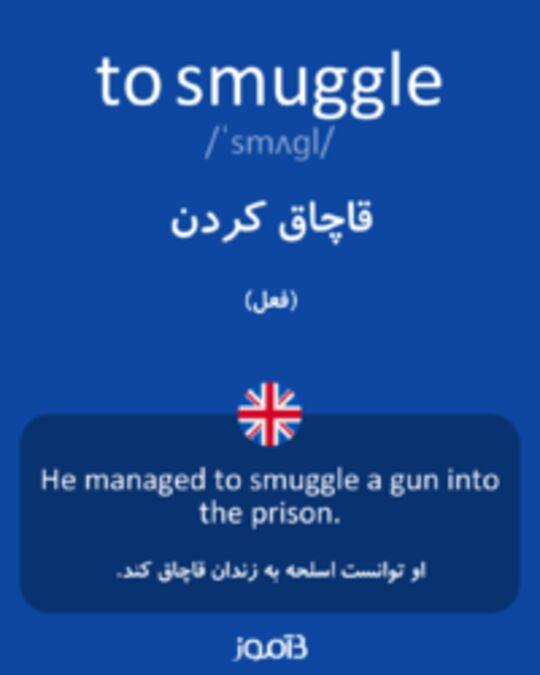 تصویر to smuggle - دیکشنری انگلیسی بیاموز