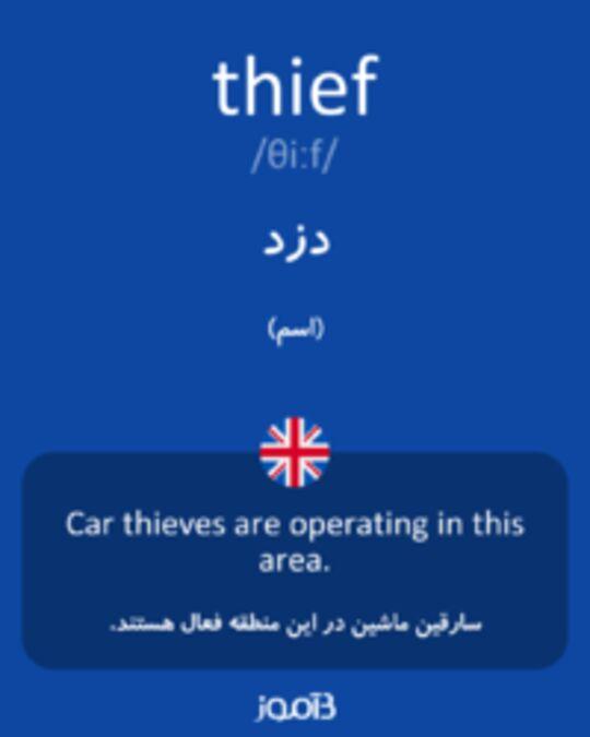 تصویر thief - دیکشنری انگلیسی بیاموز