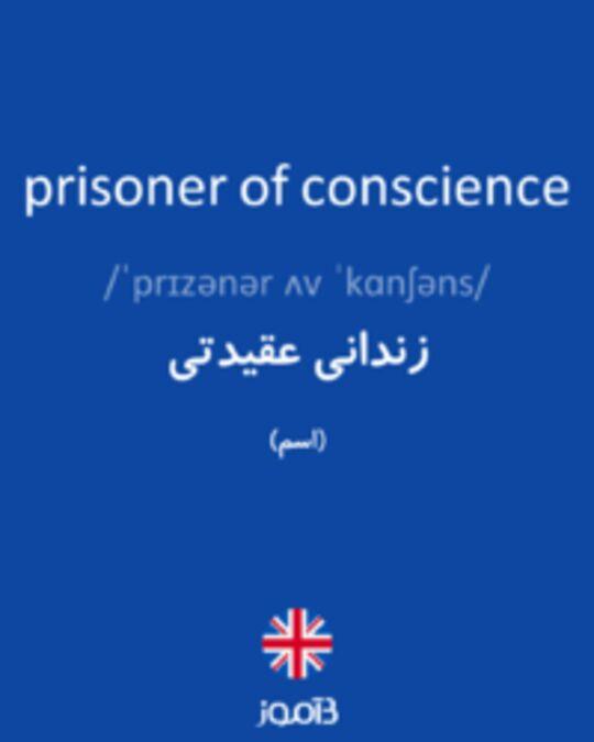تصویر prisoner of conscience - دیکشنری انگلیسی بیاموز