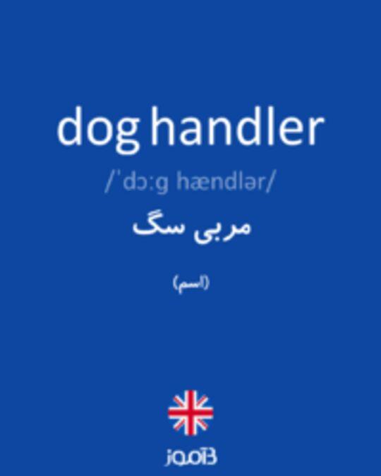 تصویر dog handler - دیکشنری انگلیسی بیاموز