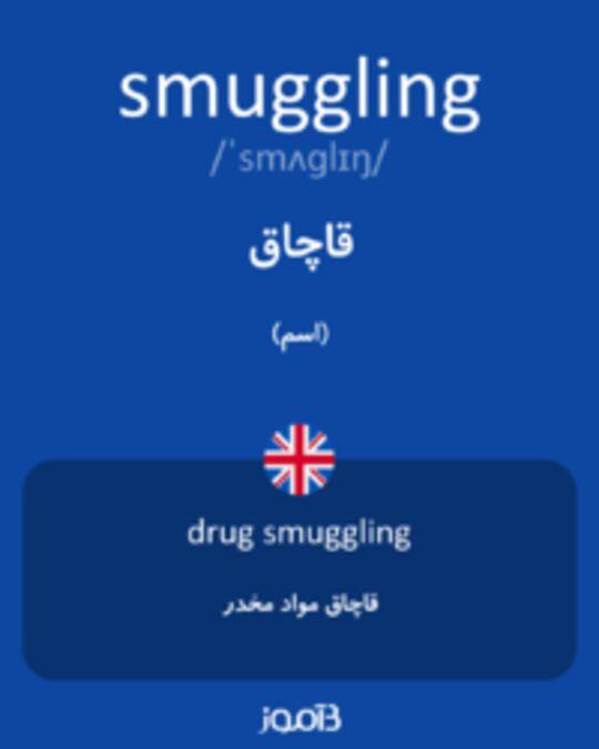 تصویر smuggling - دیکشنری انگلیسی بیاموز