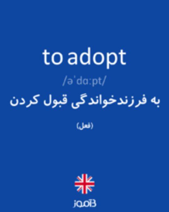تصویر to adopt - دیکشنری انگلیسی بیاموز