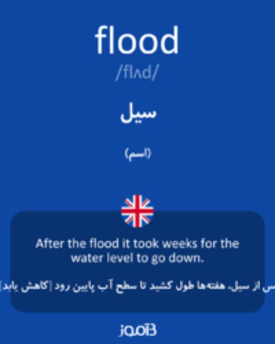 تصویر flood - دیکشنری انگلیسی بیاموز