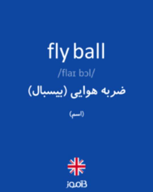 تصویر fly ball - دیکشنری انگلیسی بیاموز