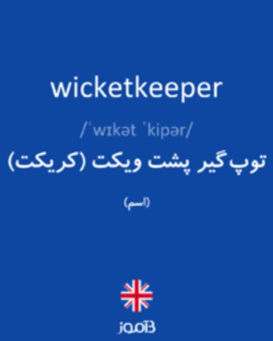 تصویر wicketkeeper - دیکشنری انگلیسی بیاموز