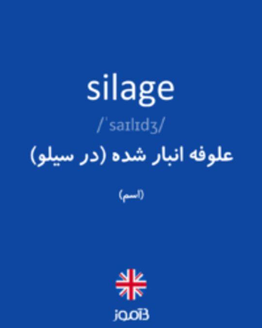 تصویر silage - دیکشنری انگلیسی بیاموز