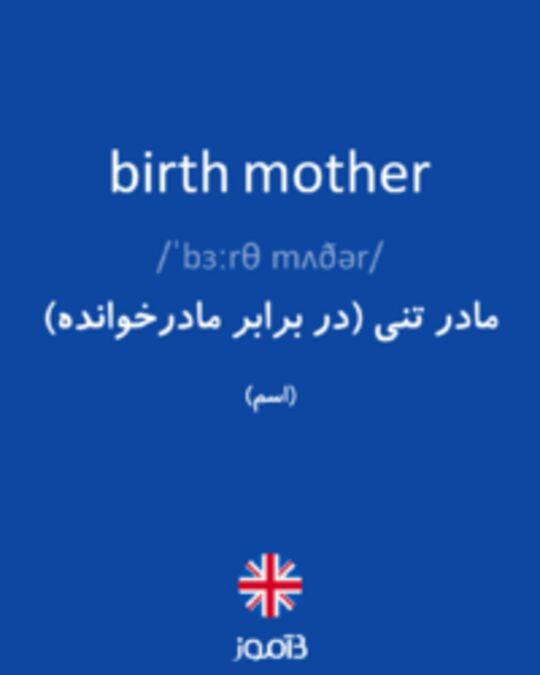 تصویر birth mother - دیکشنری انگلیسی بیاموز